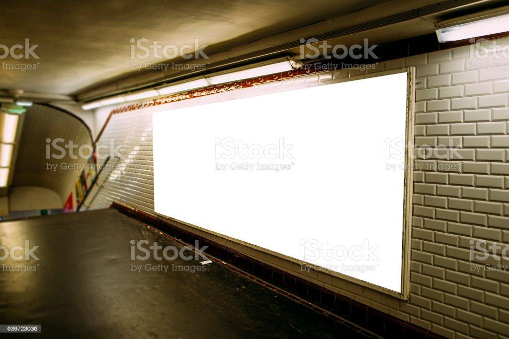 Advertisement panel stock photo