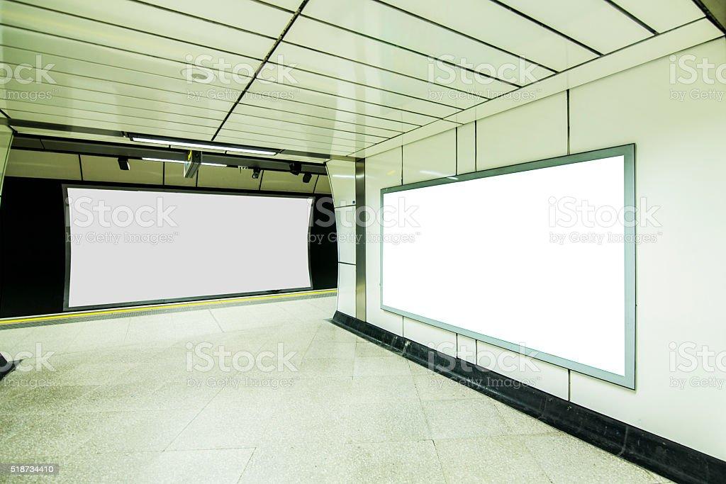 Advertisement panels stock photo