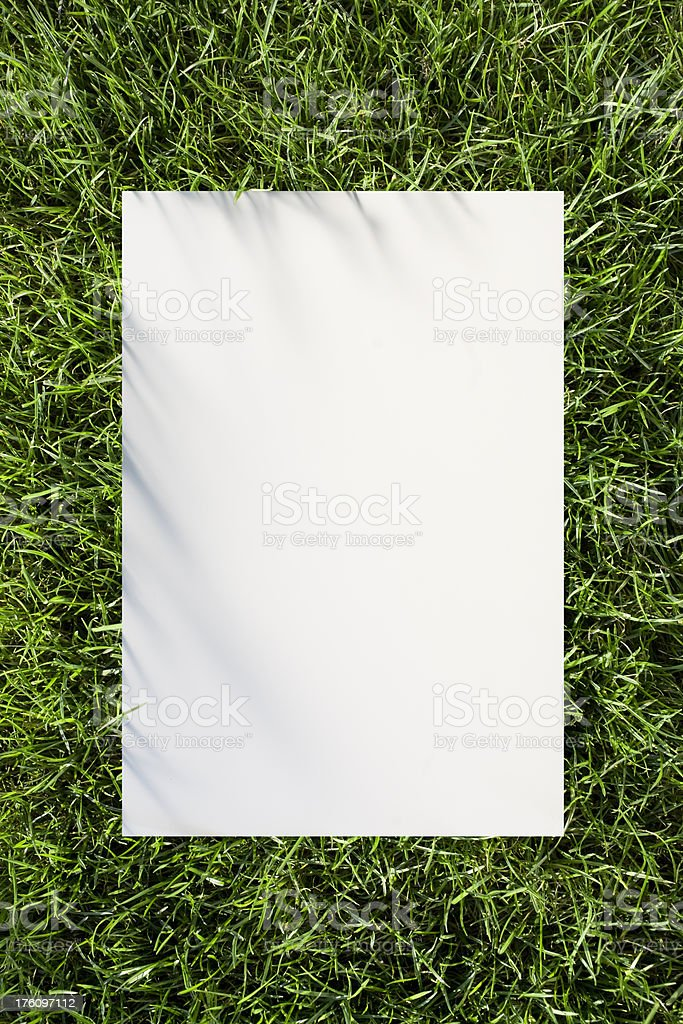 Advertisement stock photo