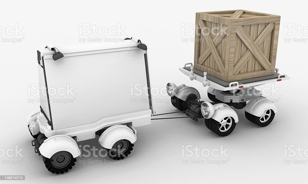 Advertising and Shipping Vehicles royalty-free stock photo