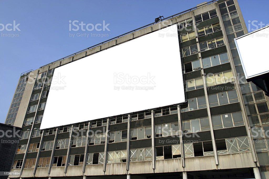 Advertising billboard royalty-free stock photo
