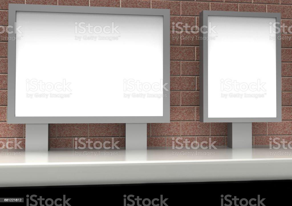 advertising billboard stock photo