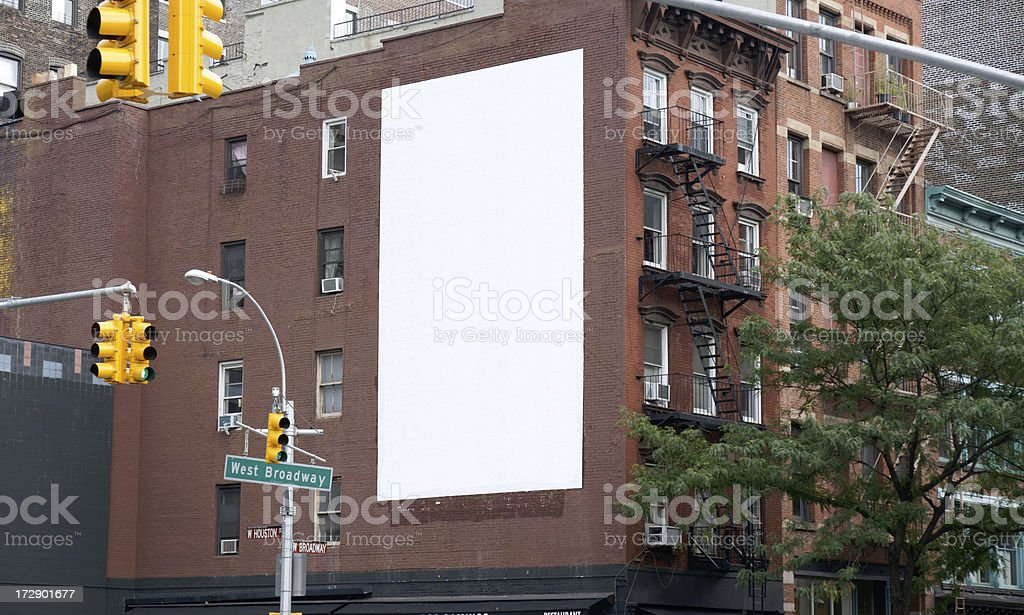 Advertising Billboard Space in Soho, Manhattan NY stock photo