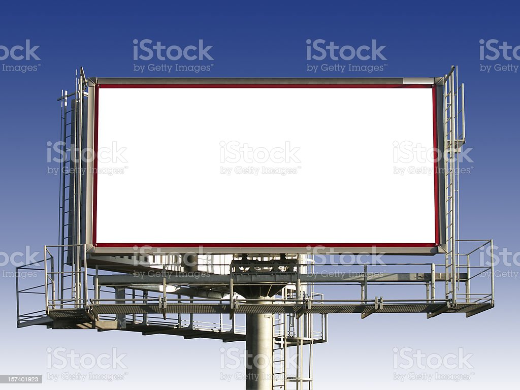 Advertising board royalty-free stock photo