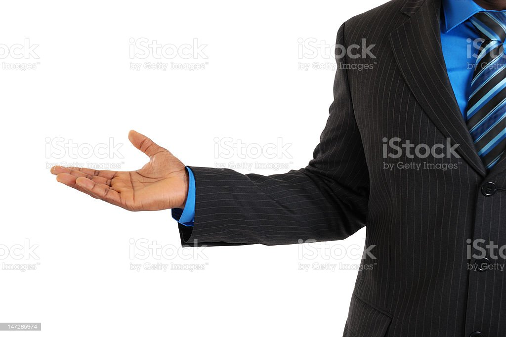 Advertising business hand royalty-free stock photo