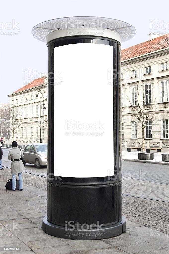 Advertising column royalty-free stock photo