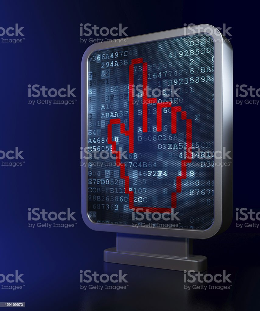 Advertising concept: Mouse Cursor on billboard background royalty-free stock photo