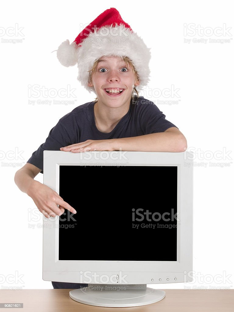 Advertising for Christmas royalty-free stock photo
