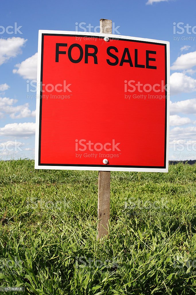 advertising: for sale sign royalty-free stock photo