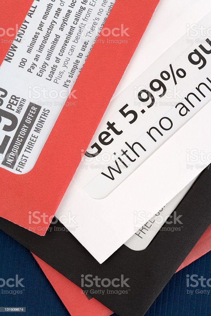 Advertising mail stock photo