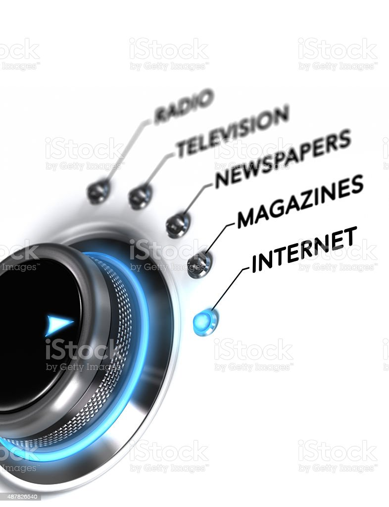 Advertising, Mass Medias Choice stock photo