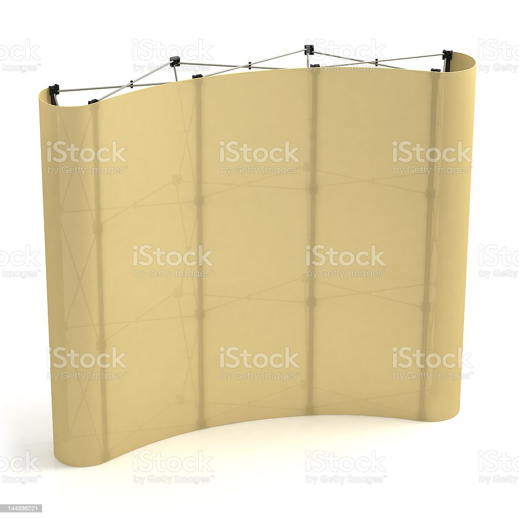 Advertising media Popup 3x3 in side-face view. royalty-free stock photo