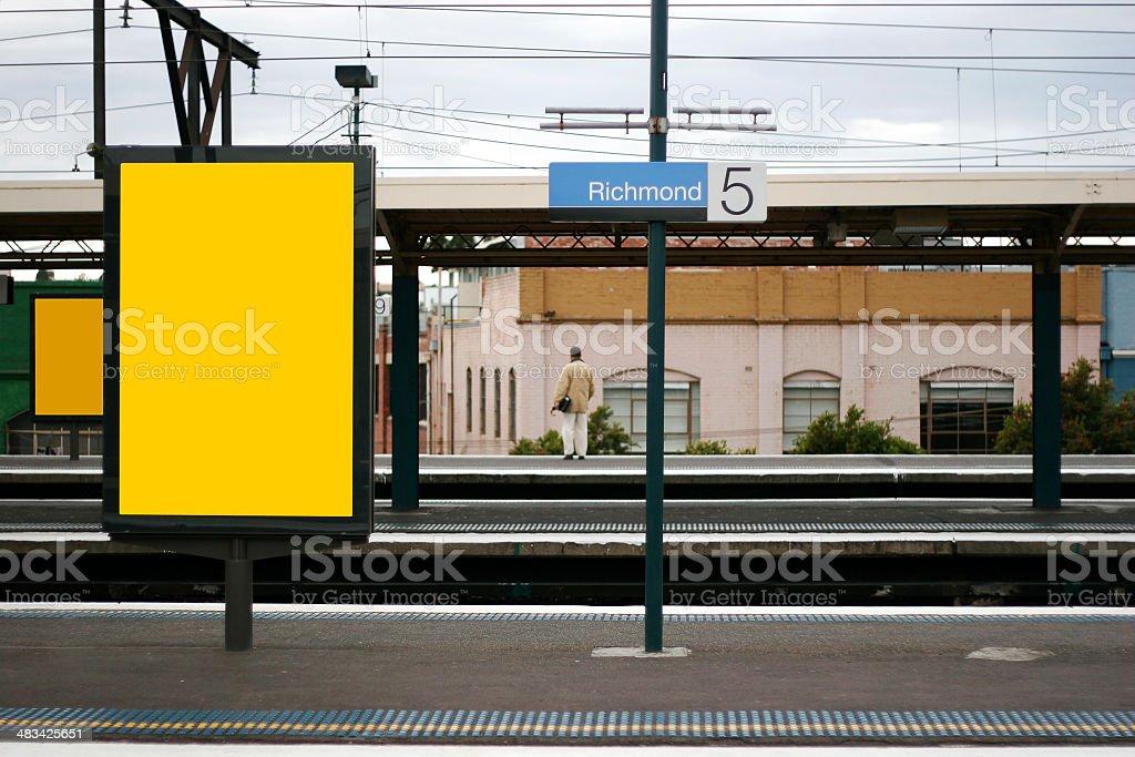 Advertising mockup background royalty-free stock photo