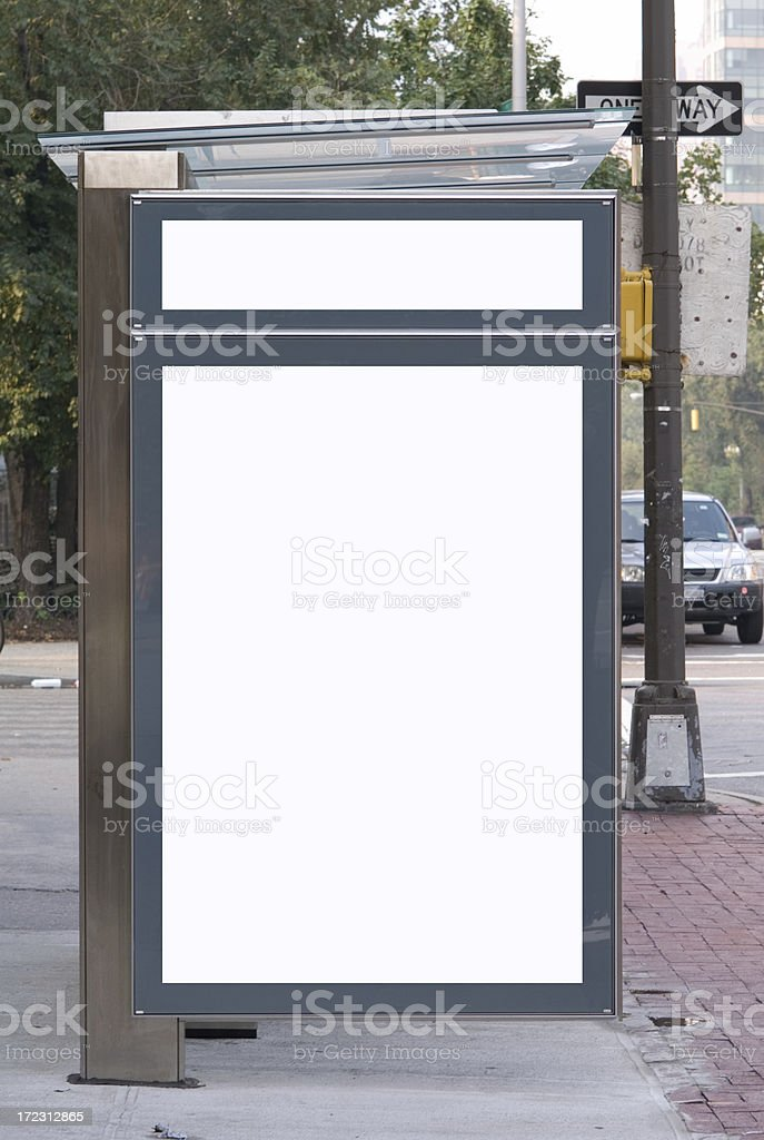Advertising  Space - Bus Shelter stock photo