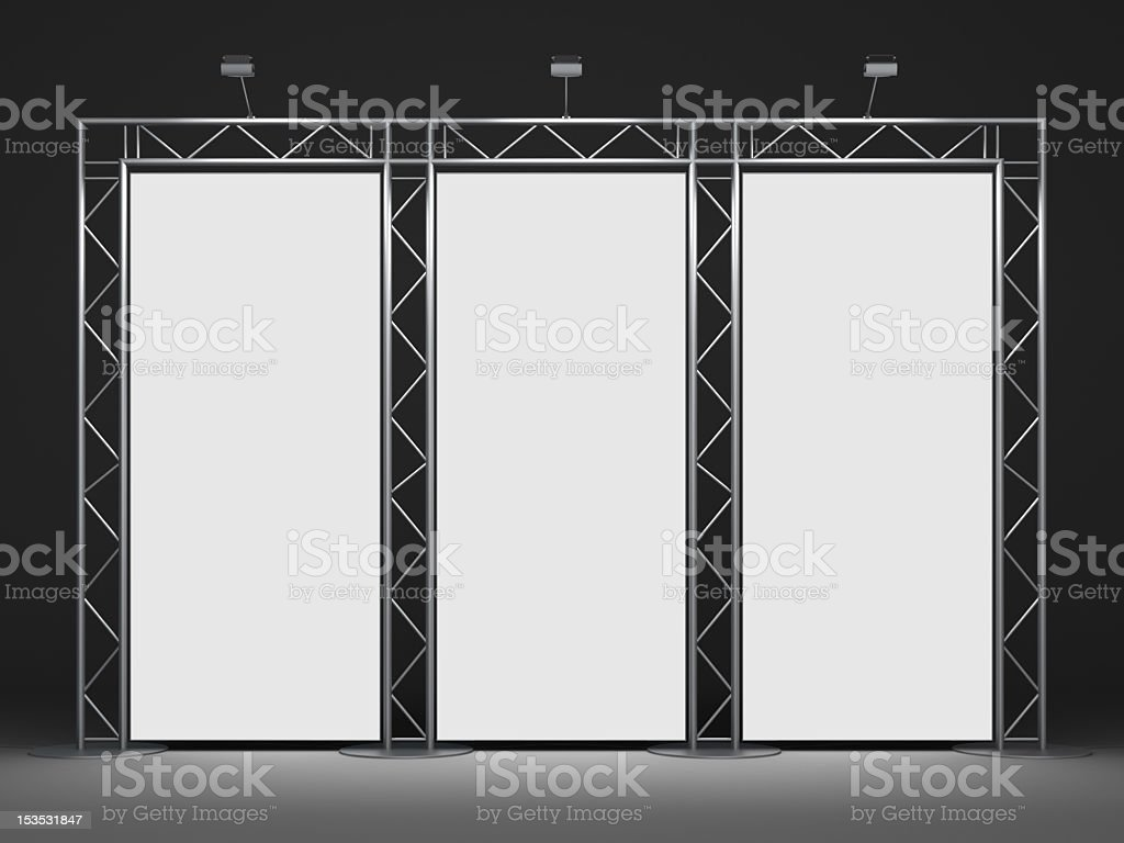 Advertising stand used for trade shows stock photo