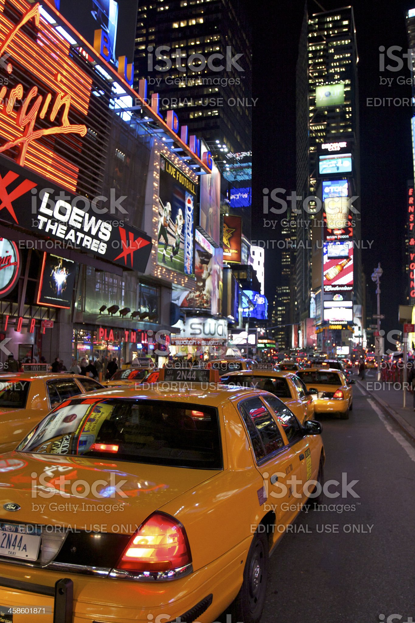 Advertisment on Times Square, New York City royalty-free stock photo