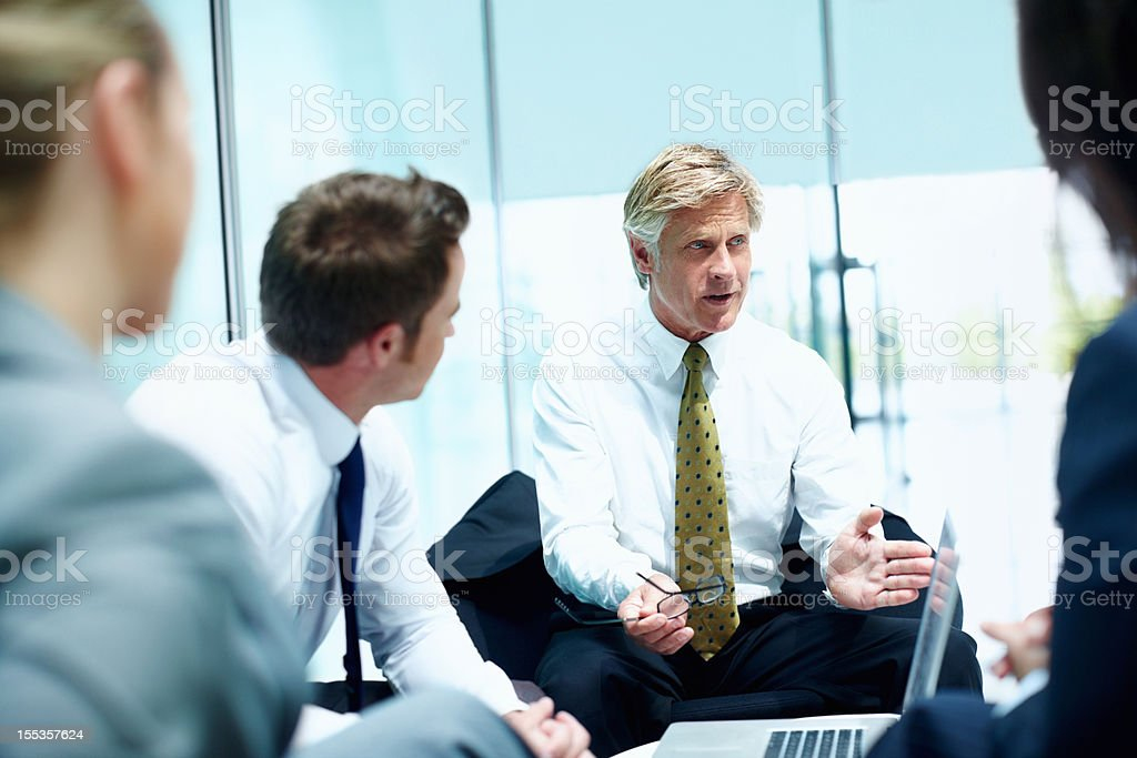 Advice from an experienced executive royalty-free stock photo