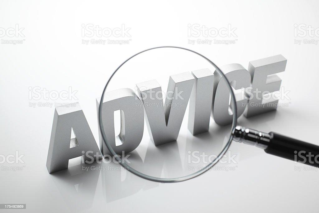 Advice stock photo
