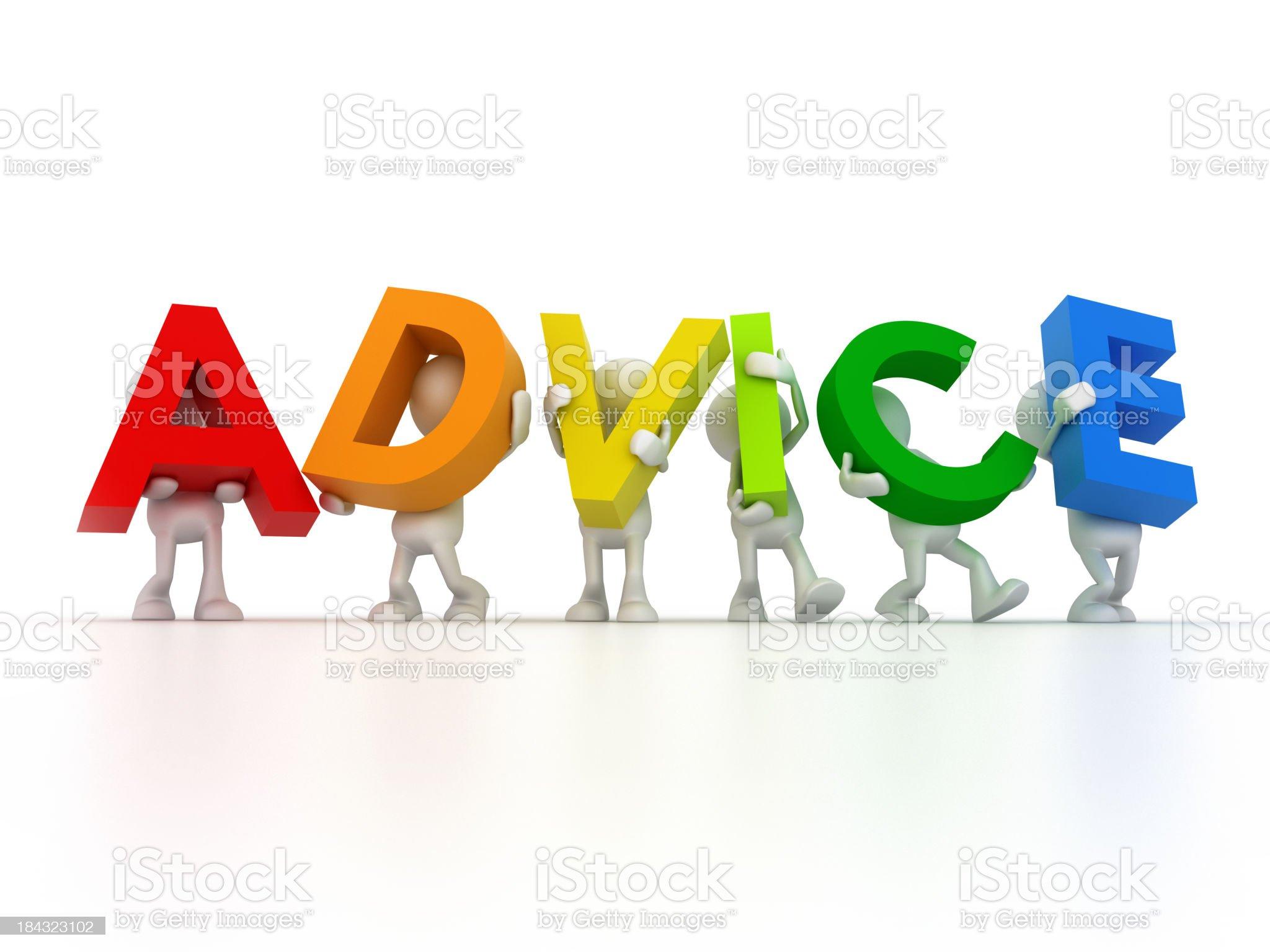 Advice royalty-free stock photo