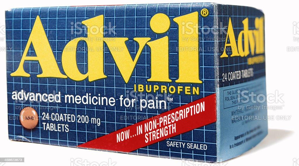 Advil on white. stock photo