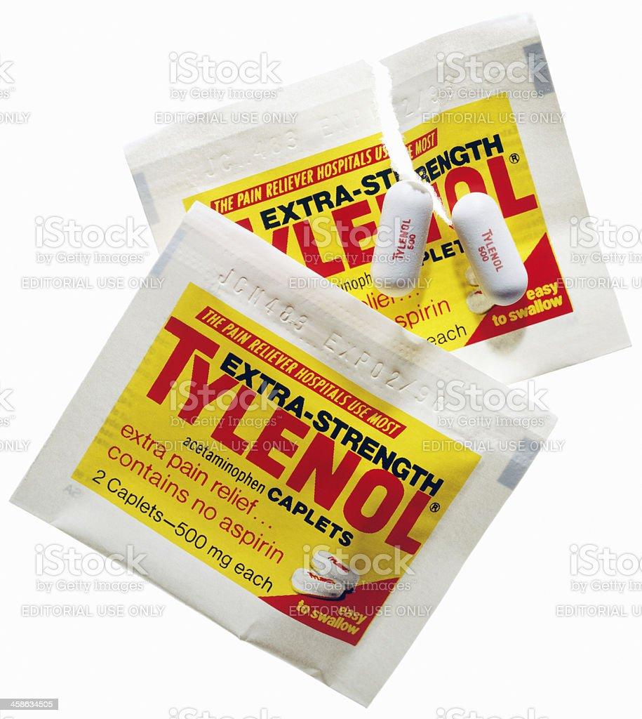 Advil, Tylenol, Bayer Aspirin, Motrin and Anacin stock photo