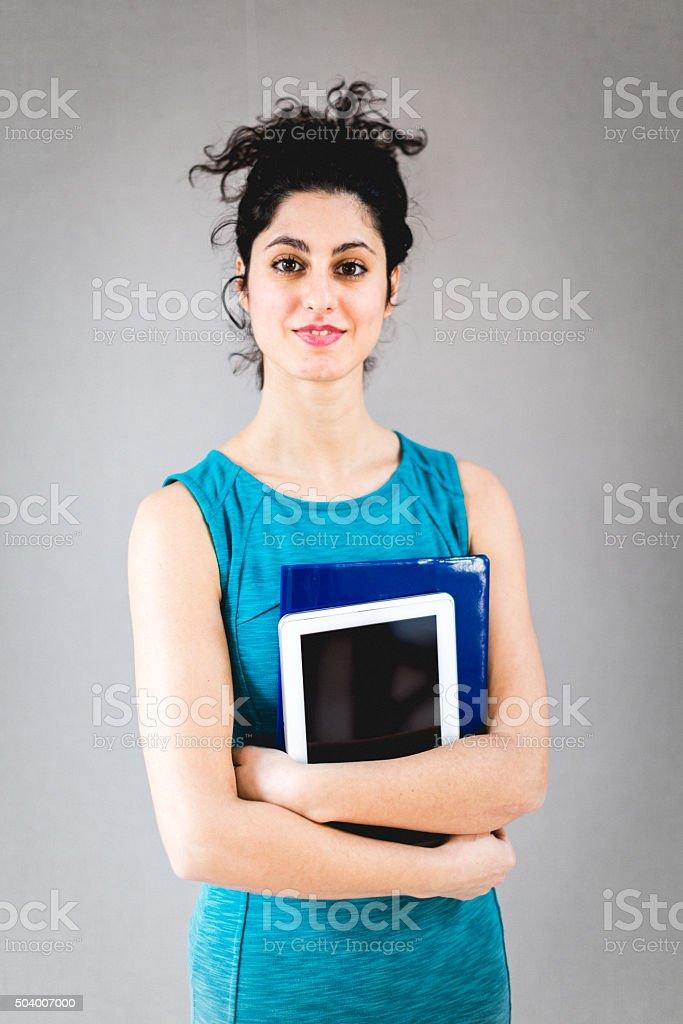 Advisor woman portrait stock photo