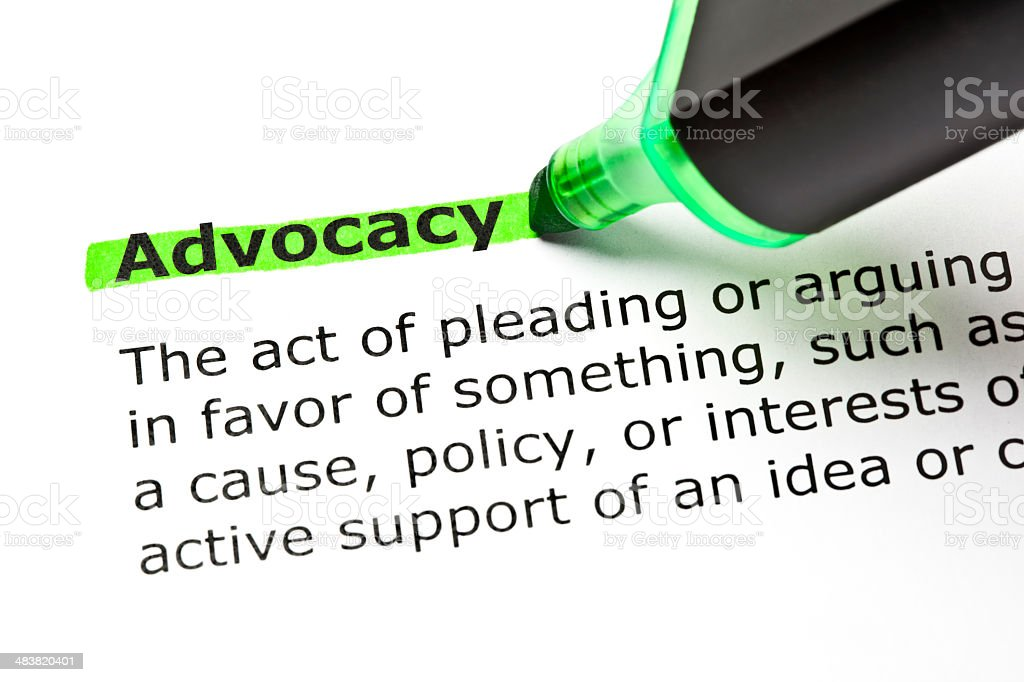 Advocacy Definition Green Marker royalty-free stock photo