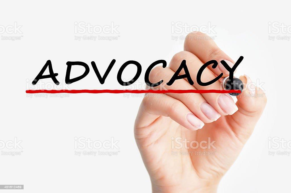 Advocacy word stock photo