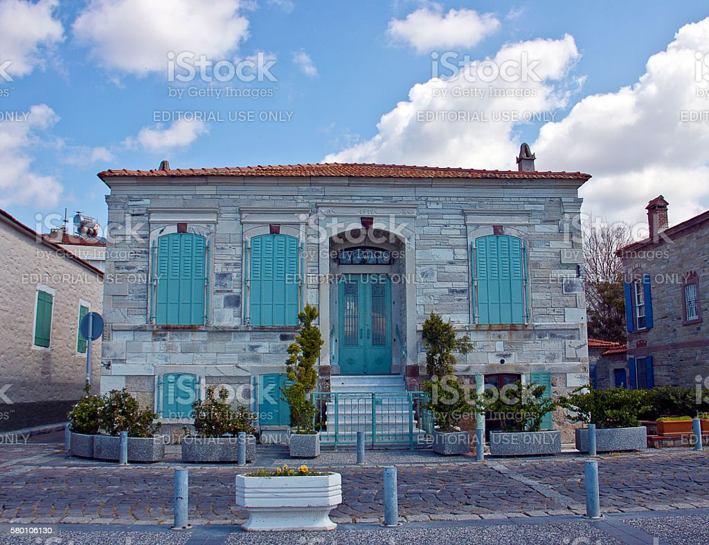 Aegean House stock photo