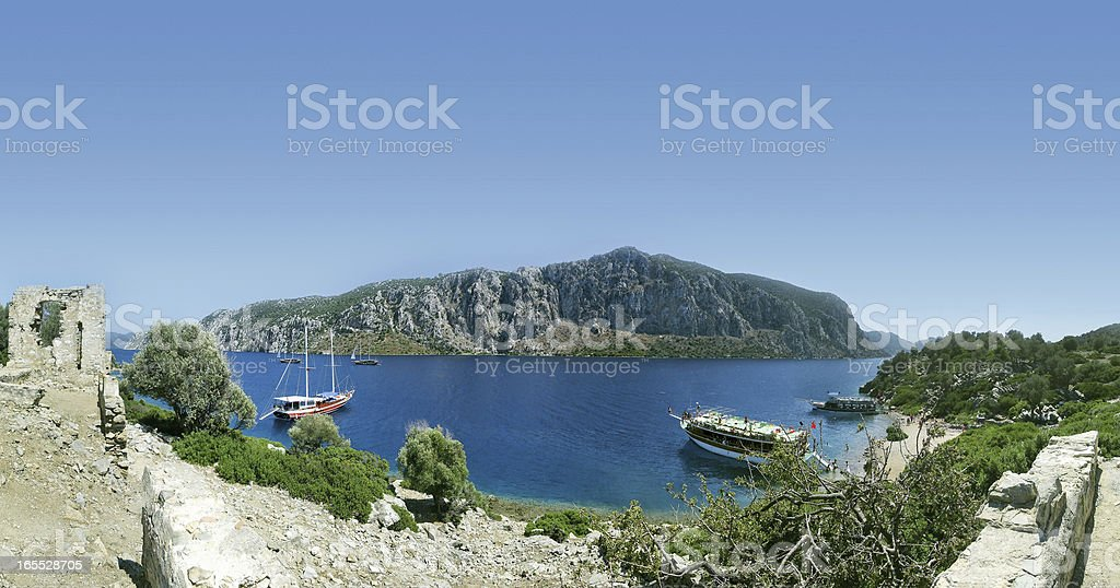 Aegean island stock photo