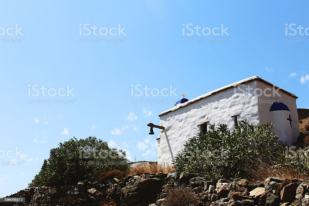 Aegean islands Chapel stock photo