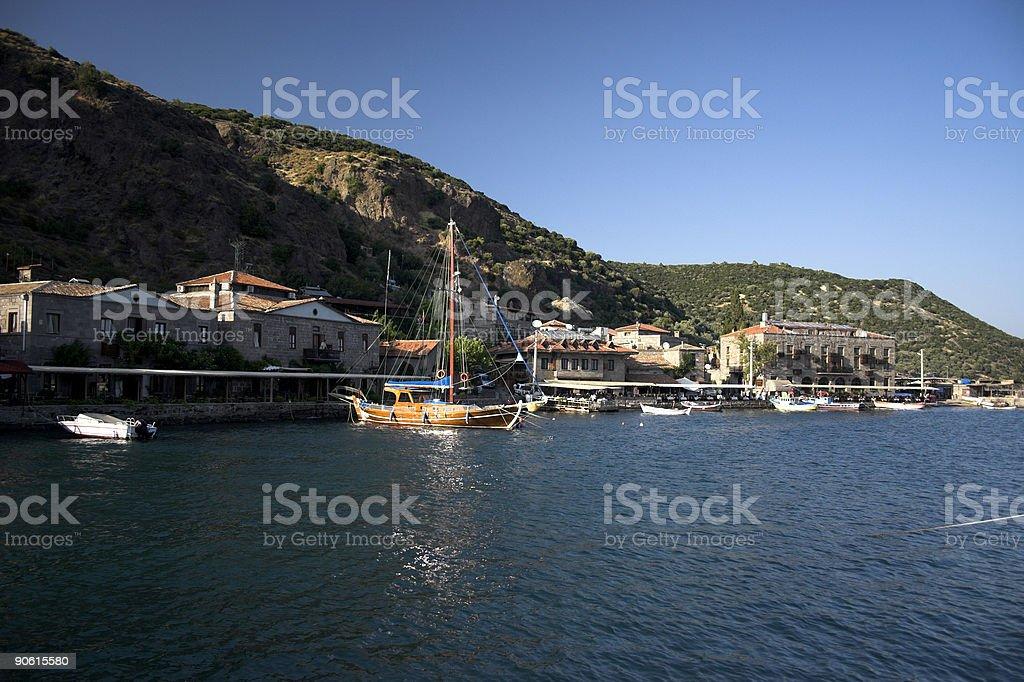 Aegean Sea Old Port stock photo