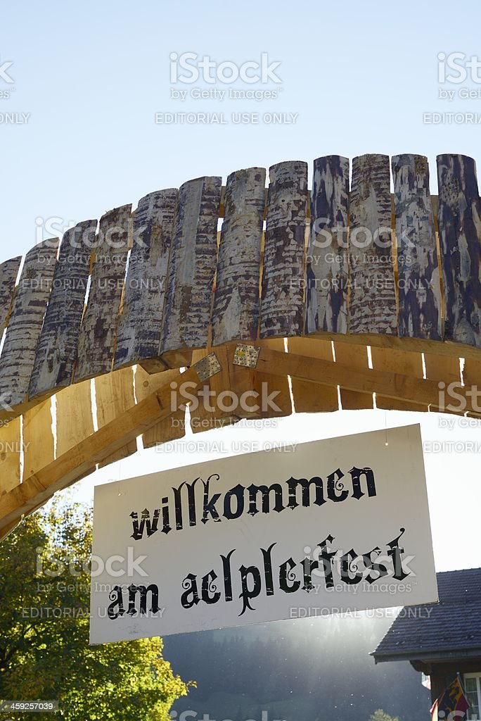 Aelplerfest Alpine Festival in Lenk im Simmental royalty-free stock photo