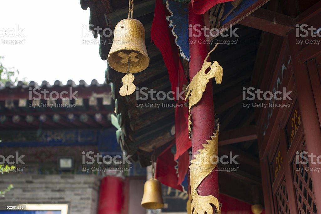 aeolian bells in the temple royalty-free stock photo