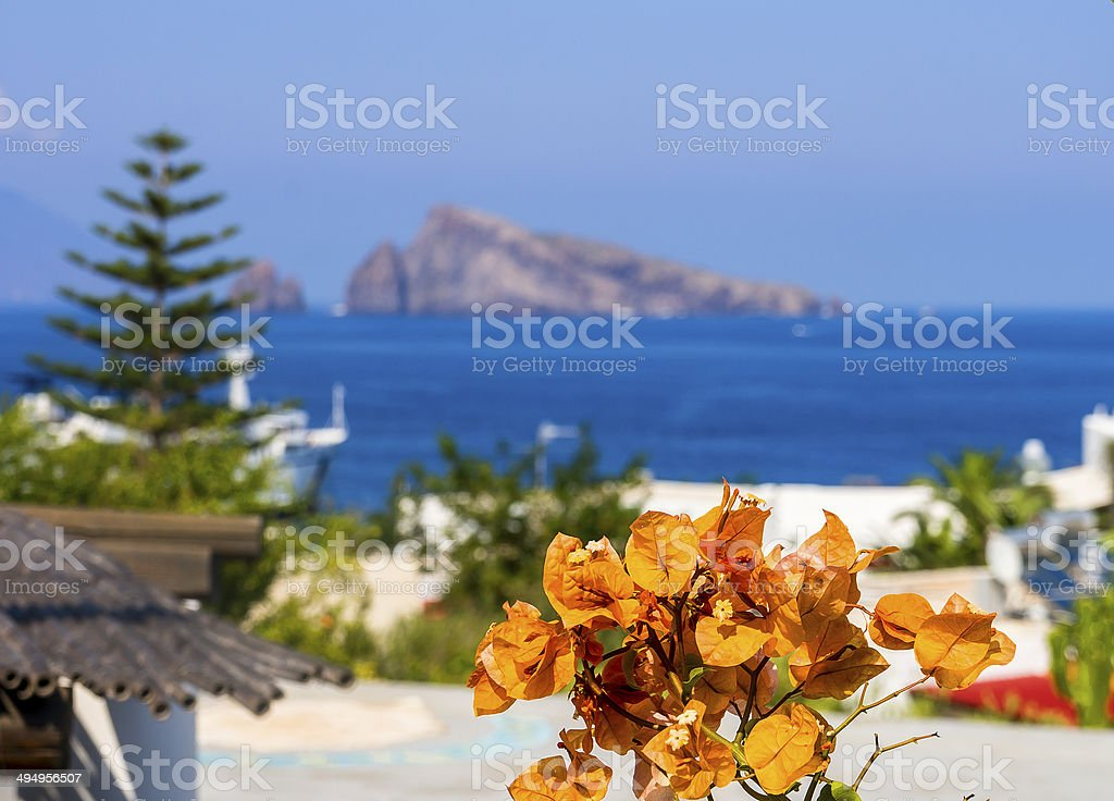 Aeolian Island stock photo