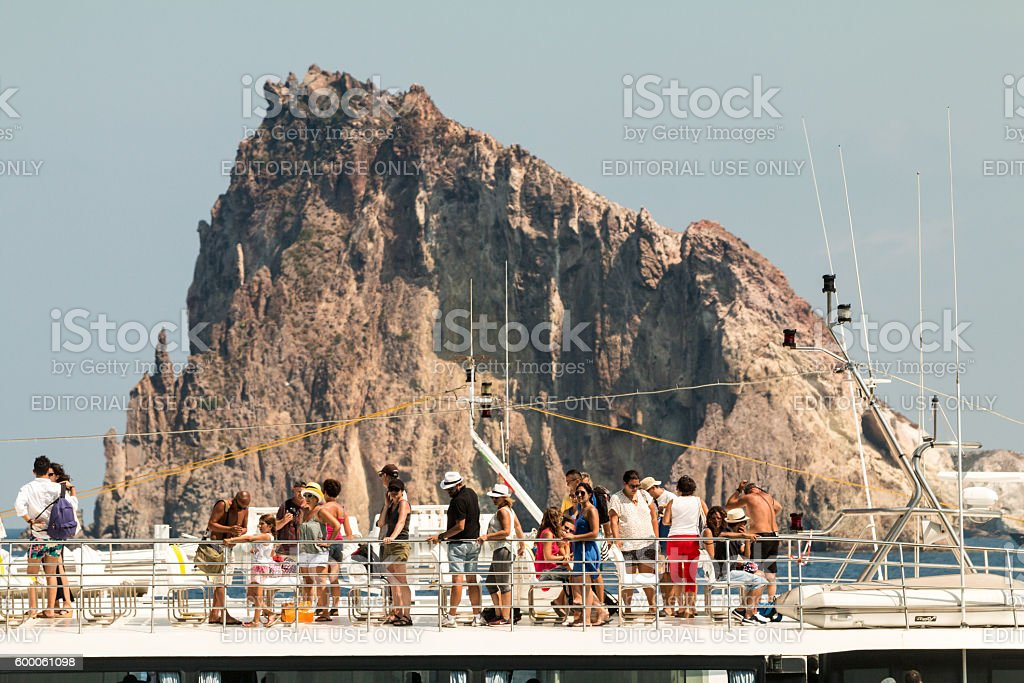 Aeolian Islands in the Tyrrhenian Sea, Sicily stock photo