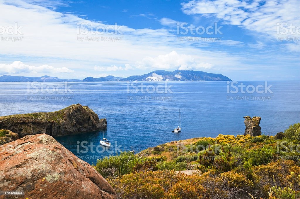 Aeolian Islands, Sicily, Italy stock photo