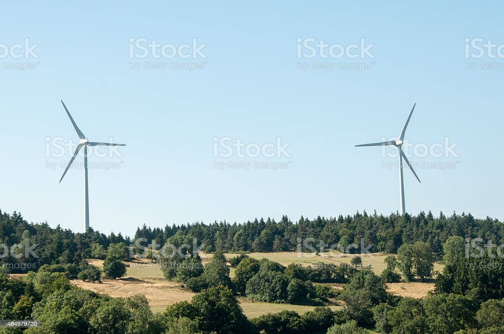 Eoliennes stock photo