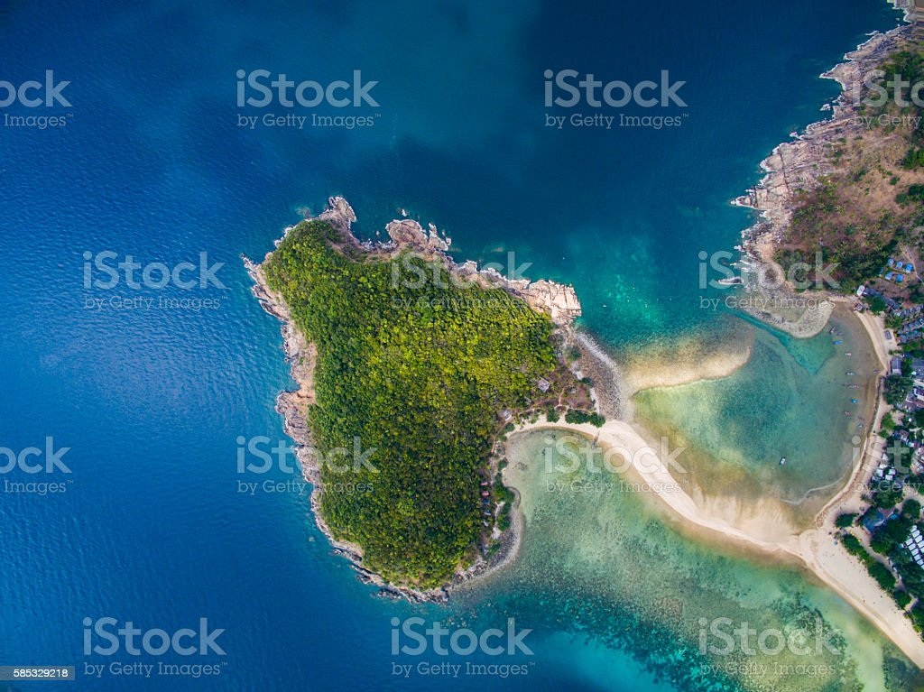 Aerail Koh Mae view, Koh Phangan, Thailand stock photo