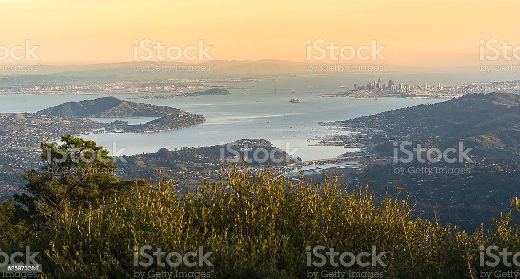 Aerail View of Bay Area stock photo