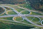 Aerail view of interchange