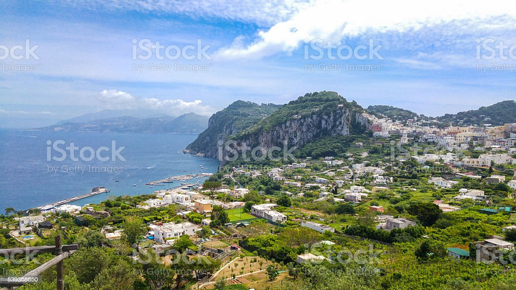 Aereal view of Capri stock photo