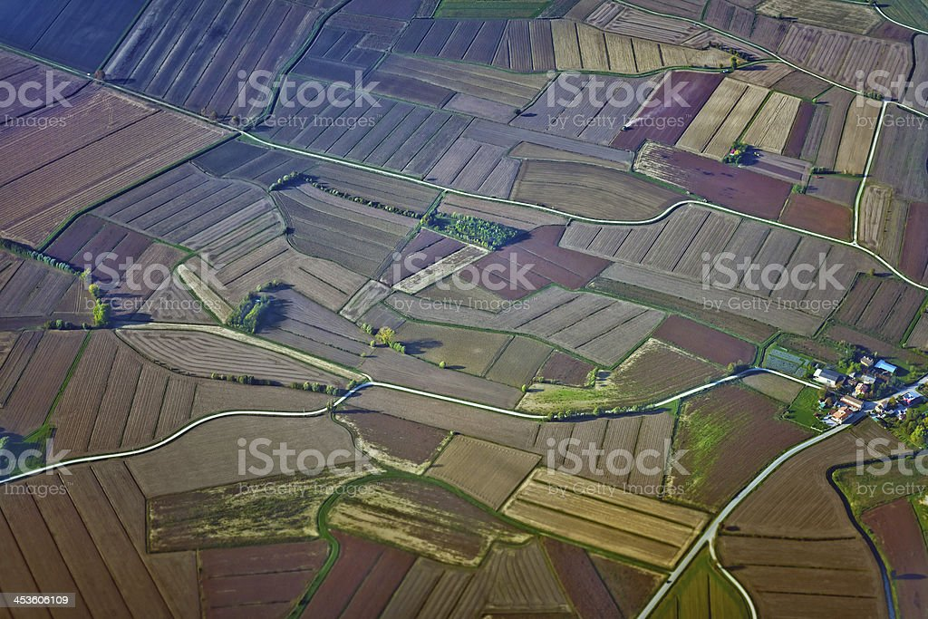 Aereal View of Italian Rural Landscape royalty-free stock photo