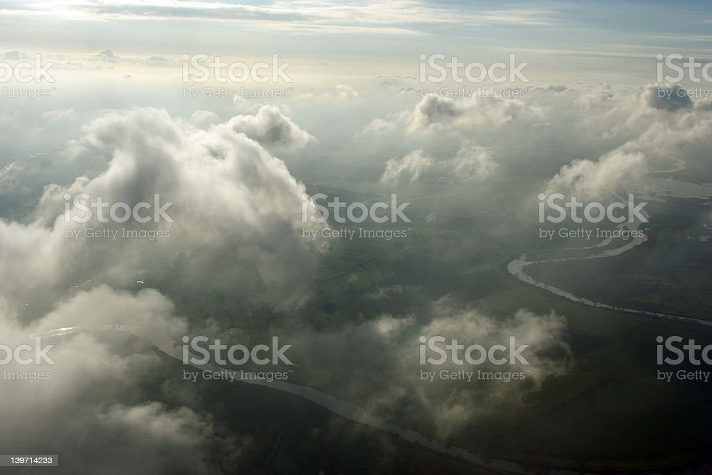 Aerial above clouds royalty-free stock photo
