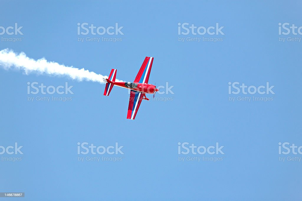 aerial acrobatics stunt flying royalty-free stock photo
