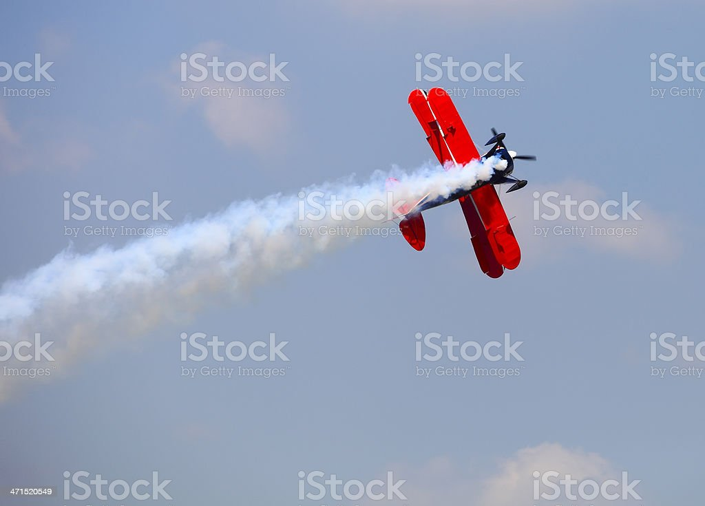 Aerial acrobatics stunt flying royalty-free stock photo