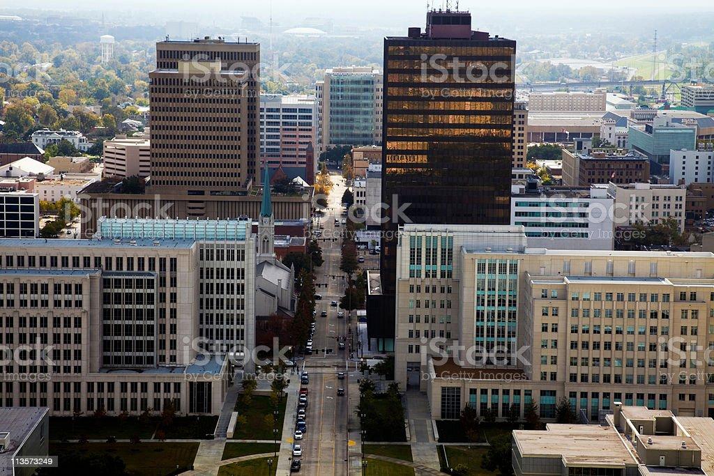 Aerial Baton Rouge stock photo