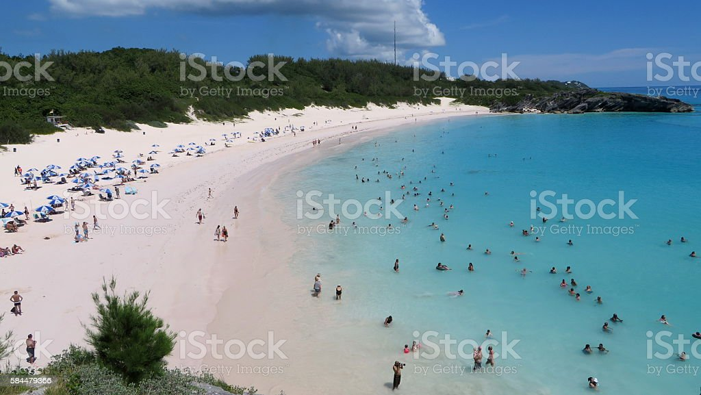 Aerial Beach View stock photo