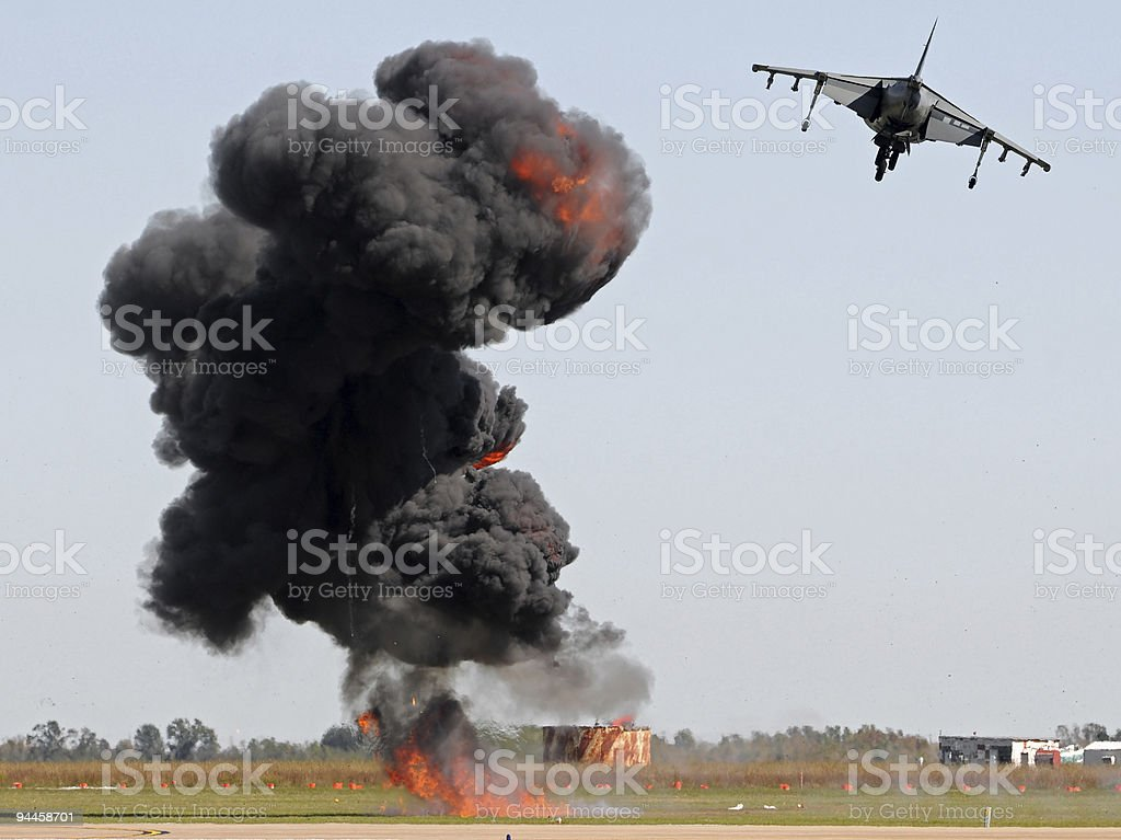 Aerial bombardment royalty-free stock photo