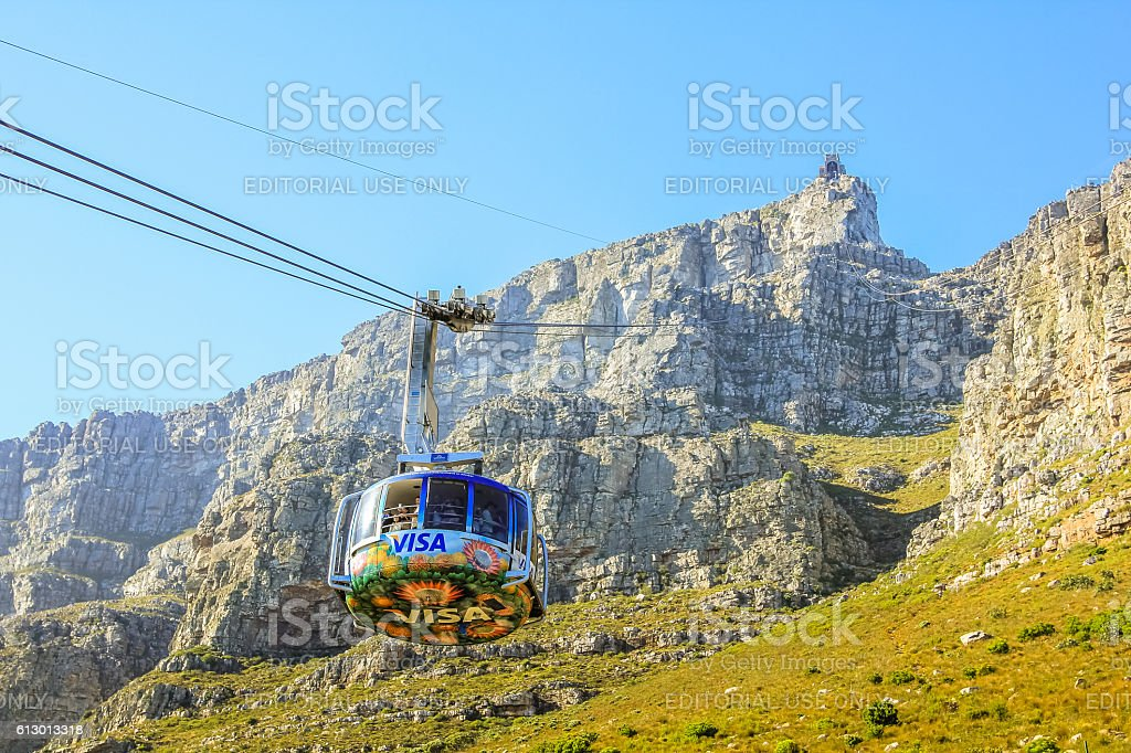 Aerial Cableway Cape town stock photo